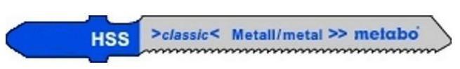 Пилка для электролобзика T118 G (5шт) Metabo