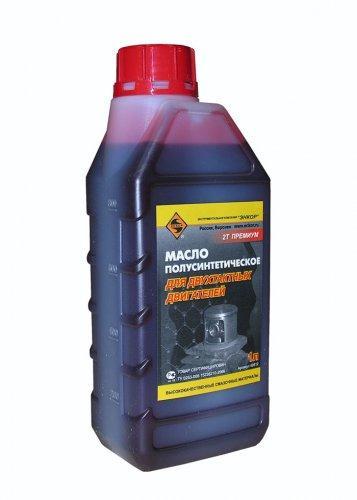 Масло для 2-х тактного двигателя полусинтетическое 1л/10 ЭНКОР НАНОТЕК 2Т Премиум