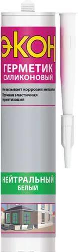 Герметик силикон нейтрал белый 280мл ЭКОН