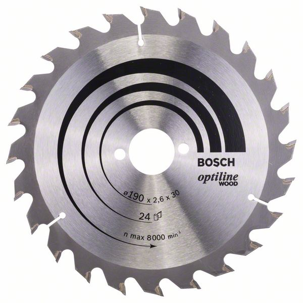 Диск пильный ф190х30 z24 Optiline Wood BOSCH 2 608 640 615