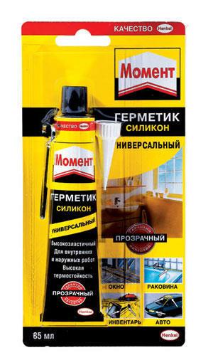 Герметик силиконовый универсальный прозрачный 85мл Henkel 622225