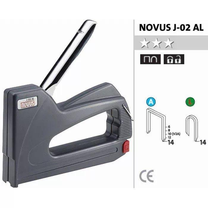 Степлер механический Novus J02 (AL) 030-0416