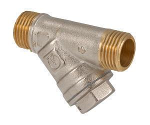 """Фильтр сетчатый для воды 1/2"""" нар.-нар. (14/224) Valtec VT.190.N.04"""