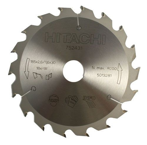 Диск пильный Hitachi 185х30 z18 дер.
