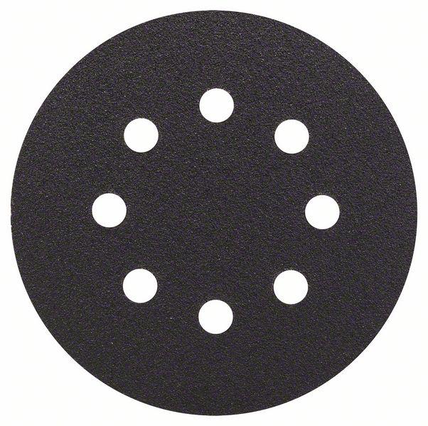 Шлифкруг ф125 на липкой основе 8 отверстий для камня k 80 (5шт) BOSCH 2 608 605 115