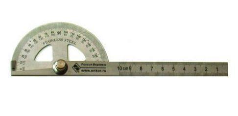 Угломер переставной с линейкой 150мм 0-180 градусов