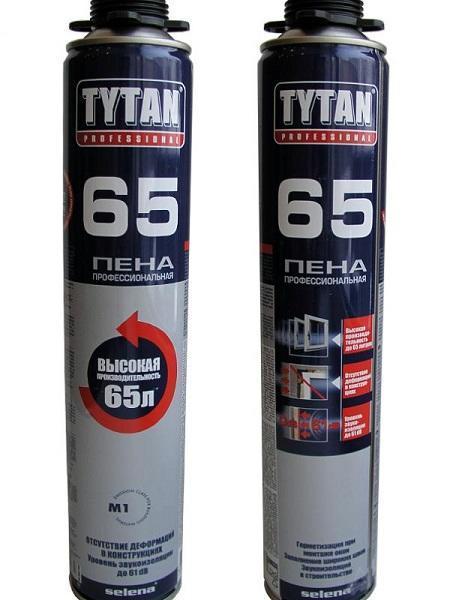 Пена монтажная 65л 750мл профессиональная О2 TYTAN 52859