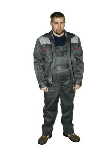 Костюм Макс (куртка + полукомбинезон, серый и оранжевый) ОДЭКС 52-54/3-4