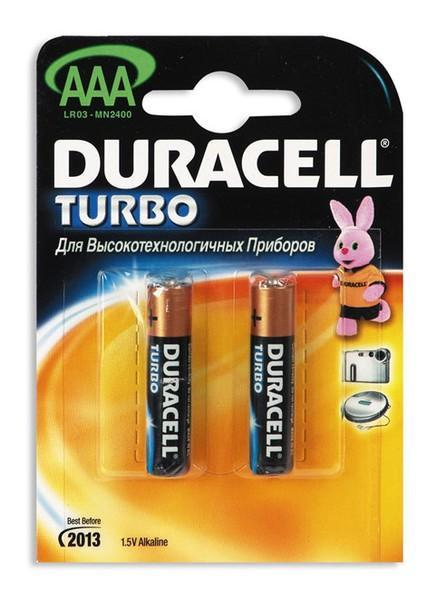 Батарейка AAA Turbo MX2400 B2 2шт Duracell 81368031