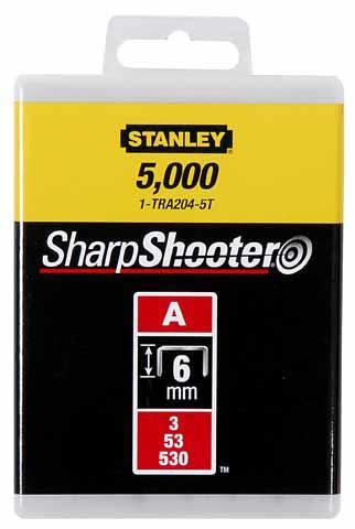 "Скобы для степлера 6мм тип ""А"" (5/53/530) 1000шт STANLEY 1-TRA204T"