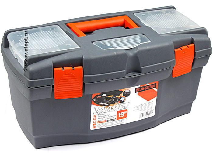 "Ящик для инструмента 19"" Master серо-свинц-оранж Blocker ПЦ3702-НССО"