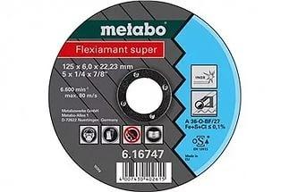 Круг шлифовальный ф125х6,0х22 для нержавейки Flexiamant Super1/10 Metabo 616747000
