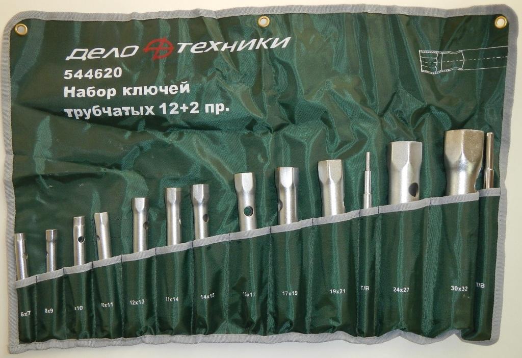 Набор ключей трубчатых 12 предметов сумка ДелоТехники 544620