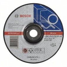Круг шлифовальный ф180х8,0х22 для металла (1/10) BOSCH 2 608 600 379