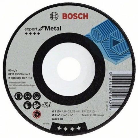 Круг шлифовальный ф230х6,0х22 для стали (1/10) BOSCH 2 608 600 228