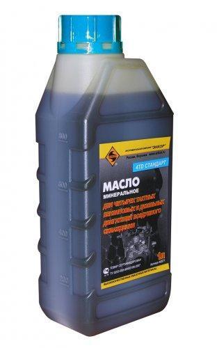 Масло для 4-х тактного двигателя SAE30 минеральное ЭНКОР 1л/10 НАНОТЕК 4ТD Стандарт