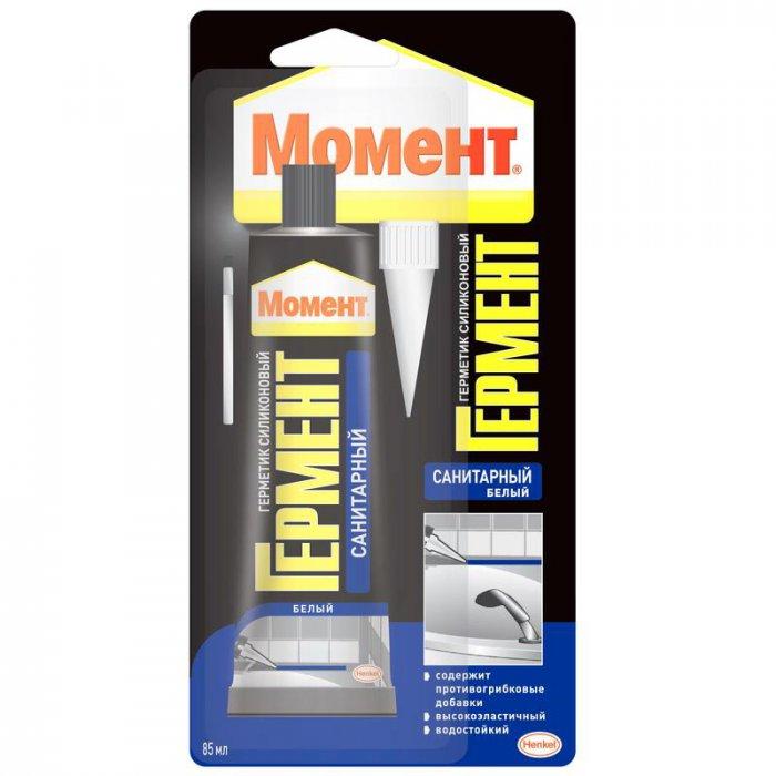 Герметик силиконовый санитарный белый 85мл Henkel 616353