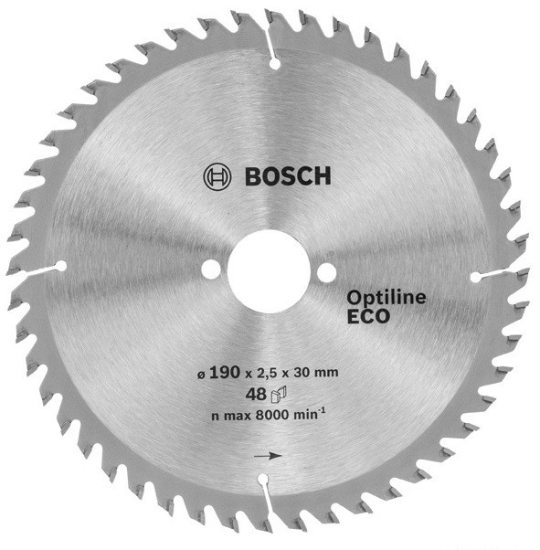 Диск пильный ф190х30 z48 Optiline Wood Eco BOSCH 2 608 641 790