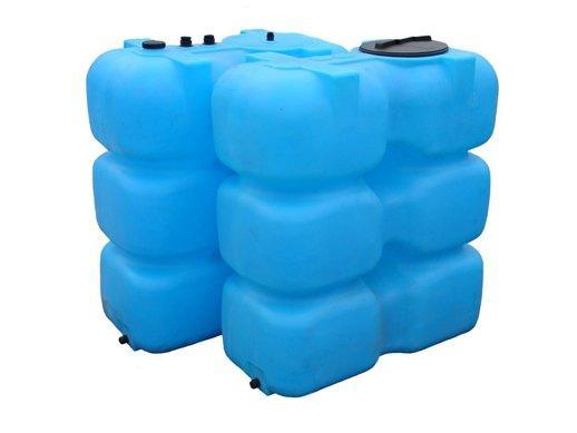 Бак для воды 2000 л, фланец, крышка, заглушка Анион Т2000ФК2З