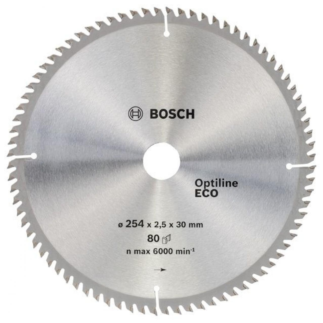 Диск пильный ф254х30 z80 Optiline Wood Eco BOSCH 2 608 641 796
