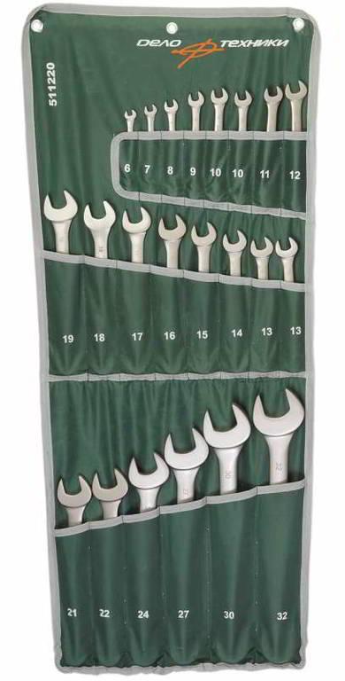 Набор ключей комбинированных 22пр сумка ДелоТехники 511220