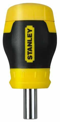 Отвертка со сменными вставками Stubby Multibit ( 6 вст) STANLEY 0-66-357