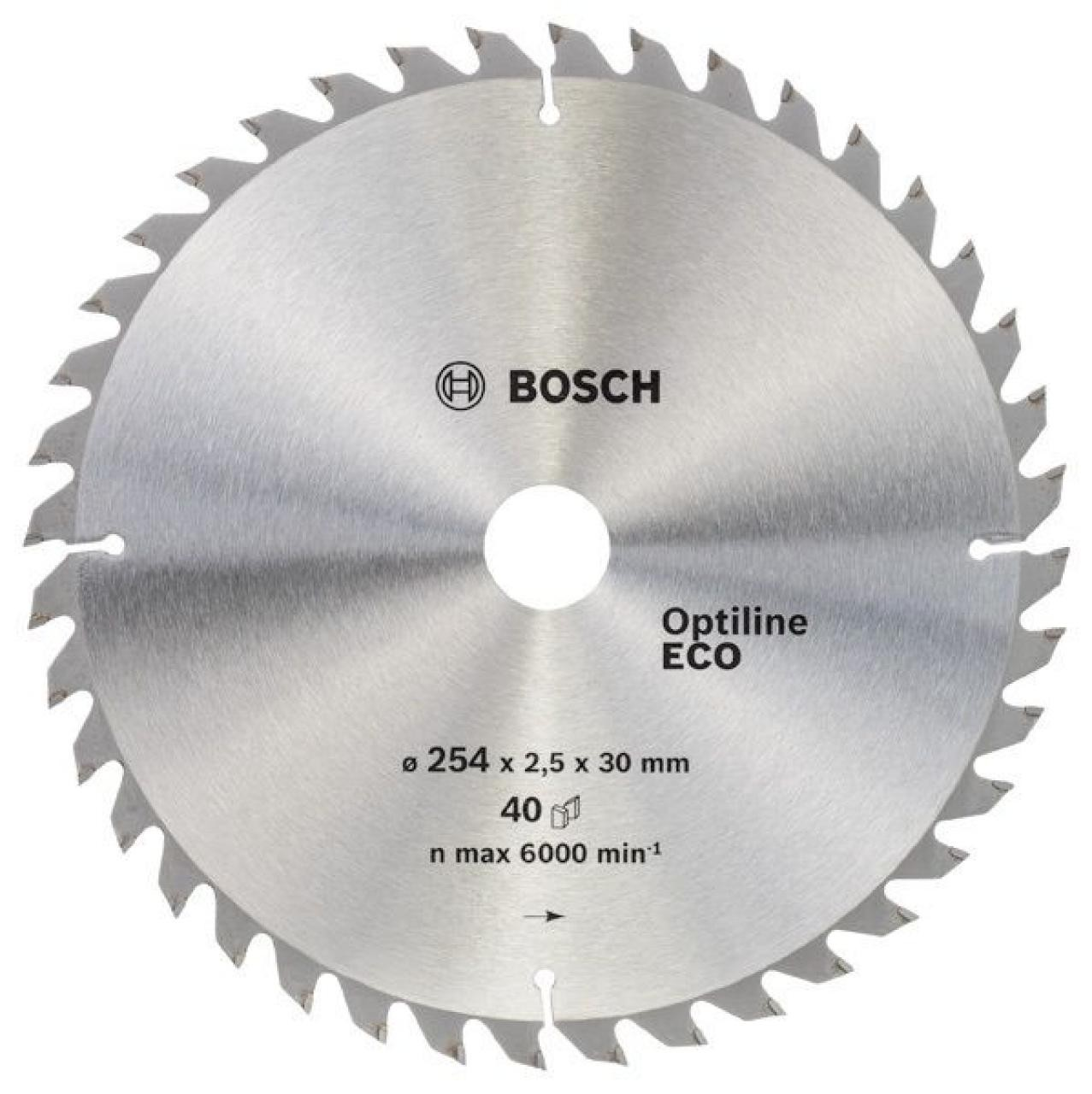 Диск пильный ф254х30 z40 Optiline Wood Eco BOSCH 2 608 641 795