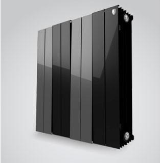 Радиатор биметаллический Royal Thermo PianoForte 500/100 8 сек. чёрный 500x100x8