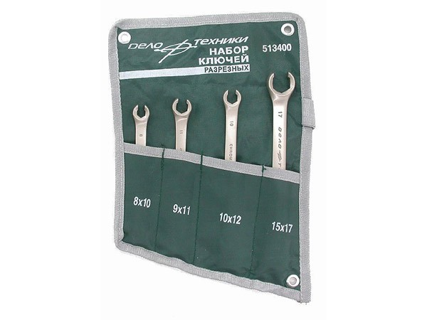 Набор ключей разрезных 4 предмета тетрон сумка ДелоТехники 513540