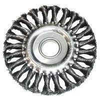 Щетка для УШМ ф22,2/115мм дисковая сталь витая