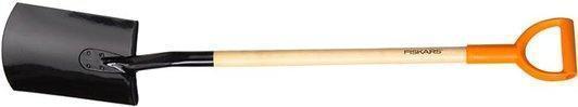 Лопата с закругленным лезвием 1180мм(дер.чер.) Fiskars 131650