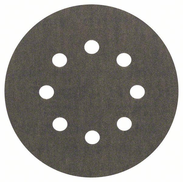 Шлифкруг ф125 на липкой основе 8 отверстий для камня k 320 (5шт) BOSCH 2 608 605 120