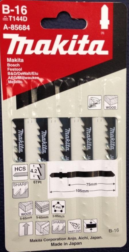 Пилка для электролобзика T144 D HCS 5шт Makita