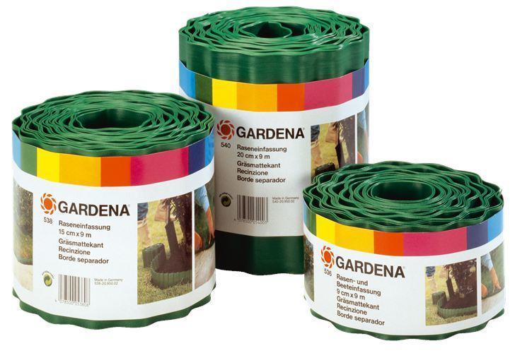 Бордюр для газона 0.20х9м зелёный Gardena 00540-20.000.00