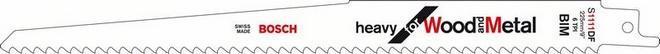 Пилки для ножовки для металла / дерева S 922 HF 2шт BOSCH 2 608 656 039