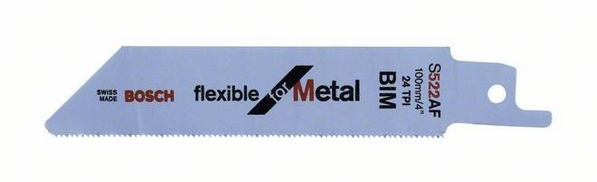 Пилки для ножовки для металла S 522 AF 5шт BOSCH 2 608 656 010