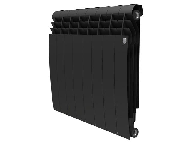 Радиатор биметаллический Royal Thermo BiLiner 500/87 8 секций чёрный 500x87x8