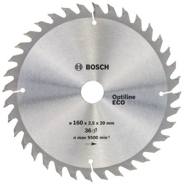 Диск пильный ф160х20/16 z36 Optiline Wood Eco BOSCH 2 608 641 786