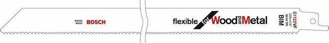 Пилки для ножовки для металла / дерева S 1222 VF 5шт. BOSCH 2 608 656 022
