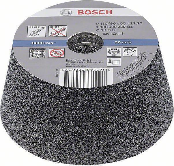 Круг шлифовальный BOSCH 110х55 к24 чашечный для камня