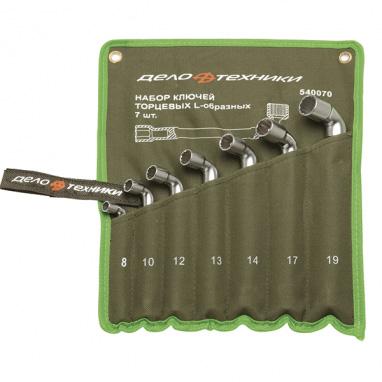 Набор ключей торцевых L-образный сквозной 7 предметов тетрон сумка ДелоТехники 540070
