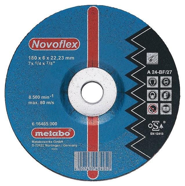 Круг шлифовальный ф180х6,0х22 для металла Novoflex (1/10) Metabo 616465000