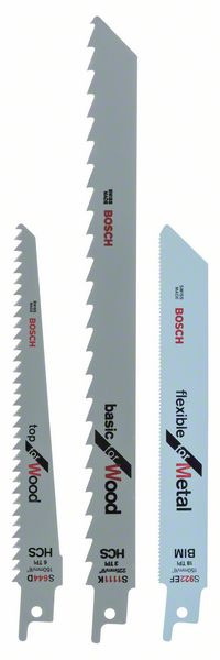 Пилка для ножовки д/мет/дер набор 3шт