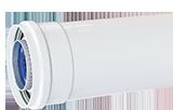 Труба D80мм 500мм (папа/мама)алюм,белая