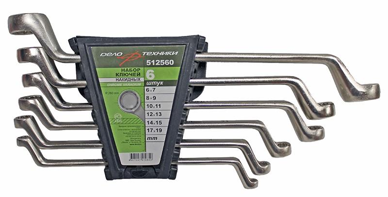 Набор ключей накидных 6 предметов пластик ДелоТехники 512560