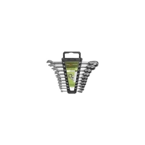 Набор ключей комбинированных с трещеткой с перекл 10 предметов ДелоТехники 515300