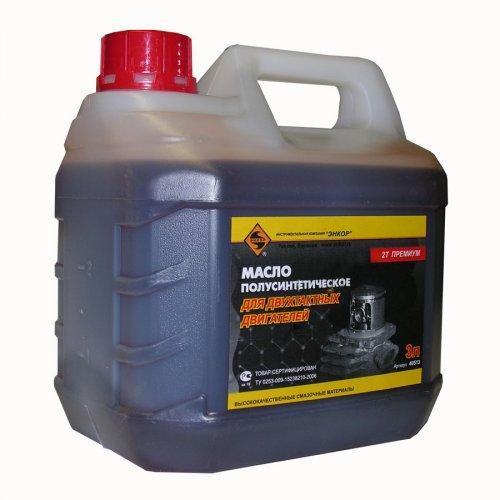 Масло для 2-х тактного двигателя полусинтетическое 3л/4 ЭНКОР НАНОТЕК 2Т Премиум