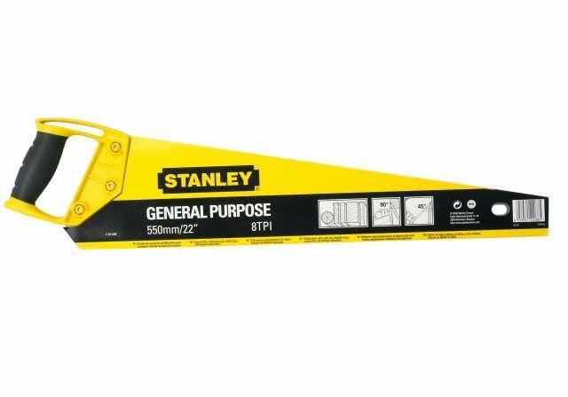 Ножовка для дерева STANLEY 450мм OPP закаленные зубья 11TPI 1-20-093