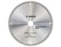 Диск пильный ф254х30 z96 Multimaterial Eco BOSCH 2 608 641 807