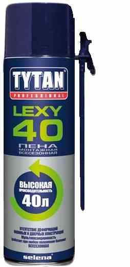 Пена монтажная Lexy 40 О2 всесезонная TYTAN 59933/55034